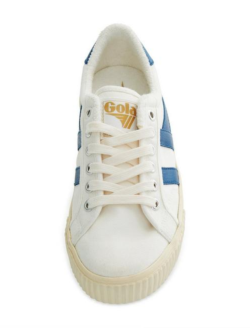 GOLA TENNIS MARK COX CANVAS SNEAKER, OFF WHITE / VINTAGE BLUE