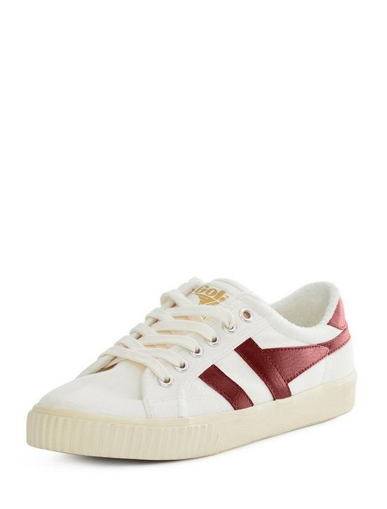 GOLA TENNIS MARK COX CANVAS SNEAKER, WHITE/RED, productTileDesktop