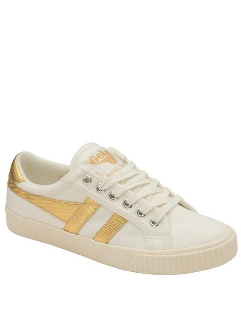 GOLA TENNIS MARK COX CANVAS SNEAKER, WHITE/GOLD