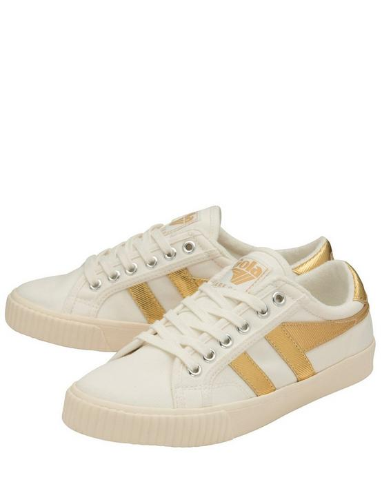 GOLA TENNIS MARK COX CANVAS SNEAKER, WHITE/GOLD, productTileDesktop
