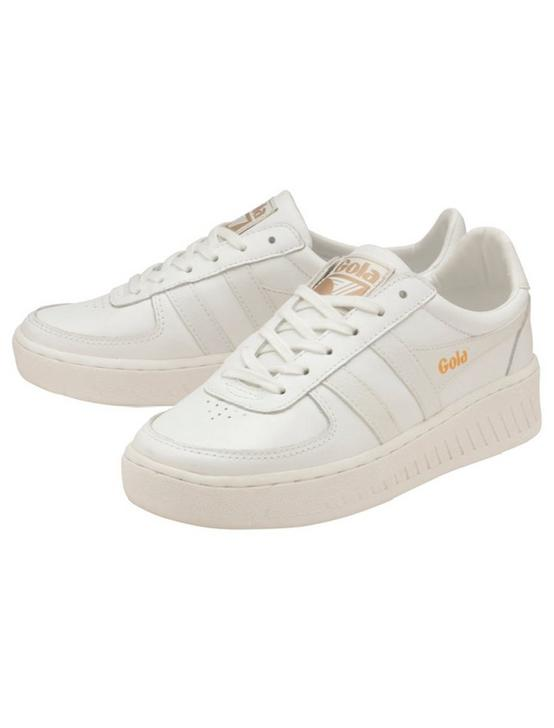 GOLA GRANDSLAM LEATHER SNEAKER, WHITE, productTileDesktop