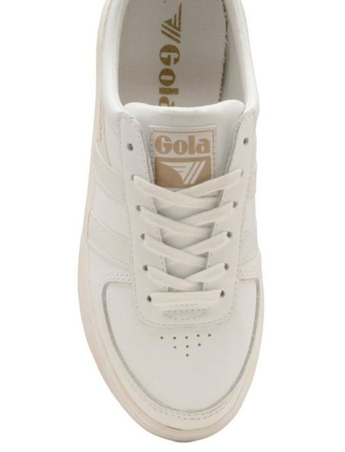 GOLA GRANDSLAM LEATHER SNEAKER, WHITE