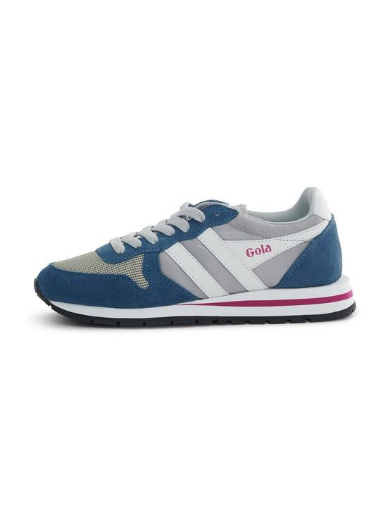 GOLA DATONA SUEDE SNEAKER, LIGHT GREY/BALTIC/WHITE, productTileDesktop