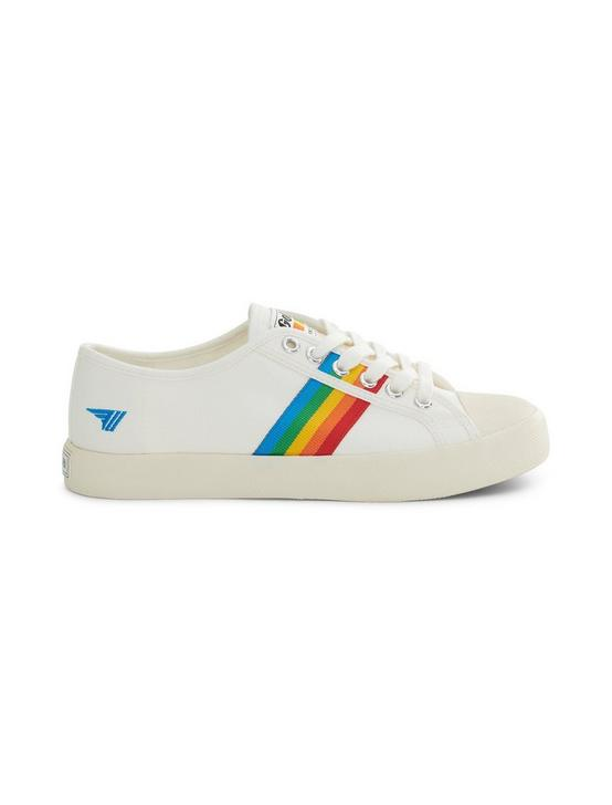 GOLA COASTER RAINBOW CANVAS SNEAKER, OFF WHITE, productTileDesktop