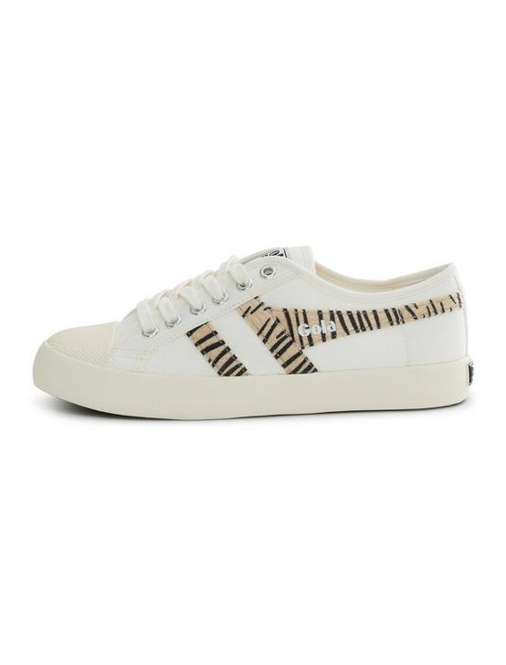 GOLA COASTER SAFARI CALF HAIR SNEAKER, OFF WHITE/ZEEBRA, productTileDesktop