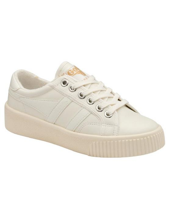 GOLA BASELINE MARK COX LEATHER SNEAKER, WHITE, productTileDesktop