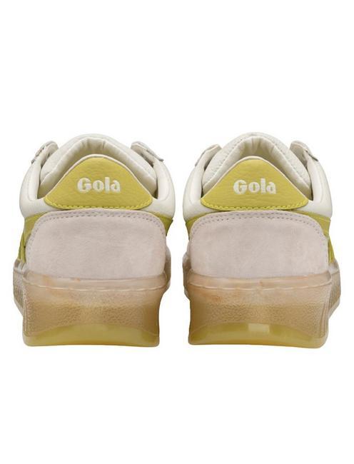 GOLA GRANDSLAM '89 LEATHER SNEAKER, WHITE/CITRON