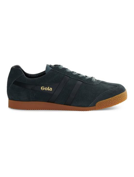 GOLA HARRIER SUEDE SNEAKER, GRAPHITE/BLACK, productTileDesktop
