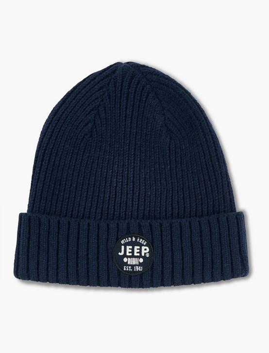 JEEP PATCH BEANIE, NAVY, productTileDesktop