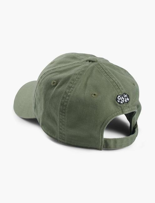 LUCKY HORSESHOE EMBROIDERED HAT, OLIVE