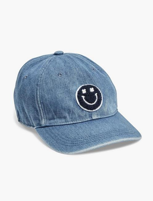 PATCH DENIM BASEBALL HAT,