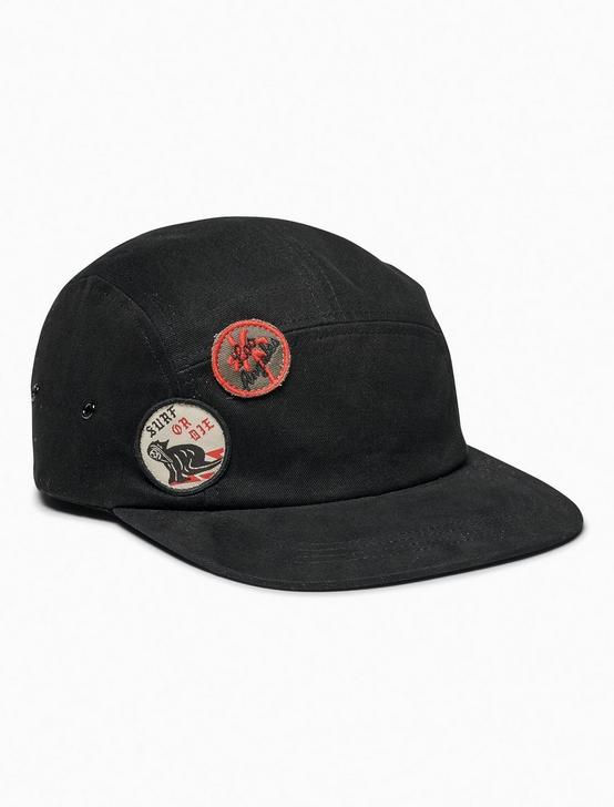 ALL OVER PATCH HAT, BLACK, productTileDesktop