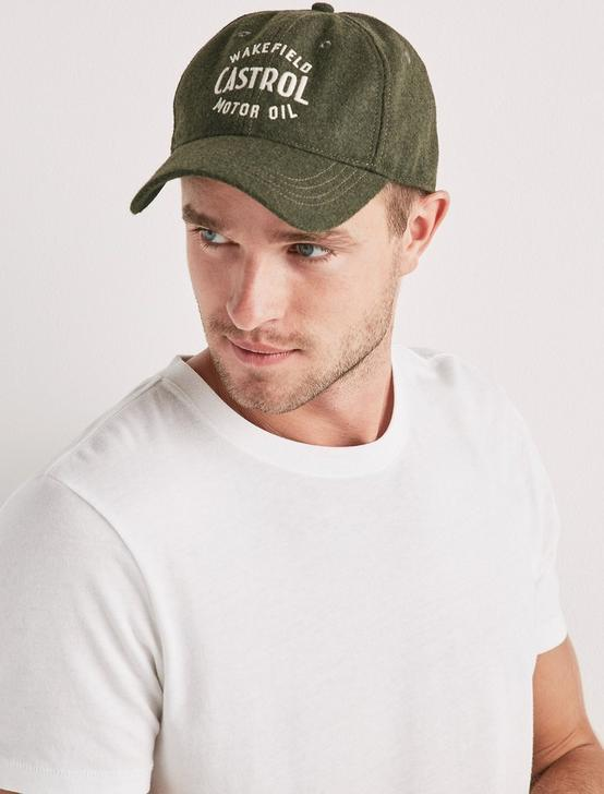 CASTROL BASEBALL HAT, OLIVE/GREEN, productTileDesktop