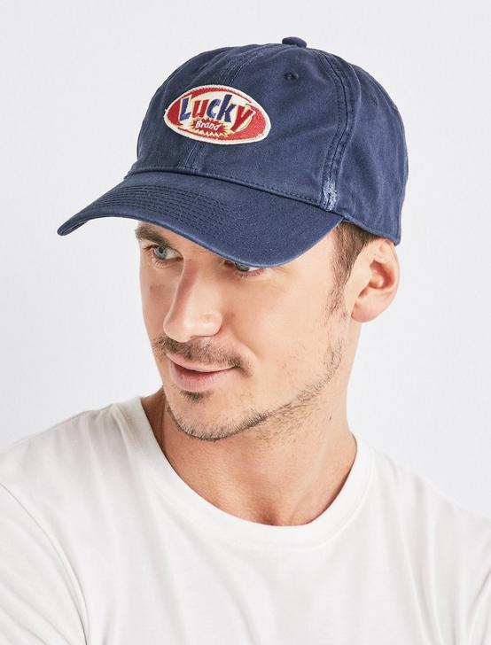 LUCKY 90'S BASEBALL HAT, NAVY, productTileDesktop