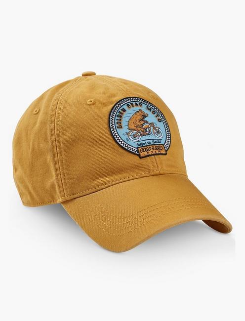MOTO BEAR BASEBALL HAT, LIGHT YELLOW