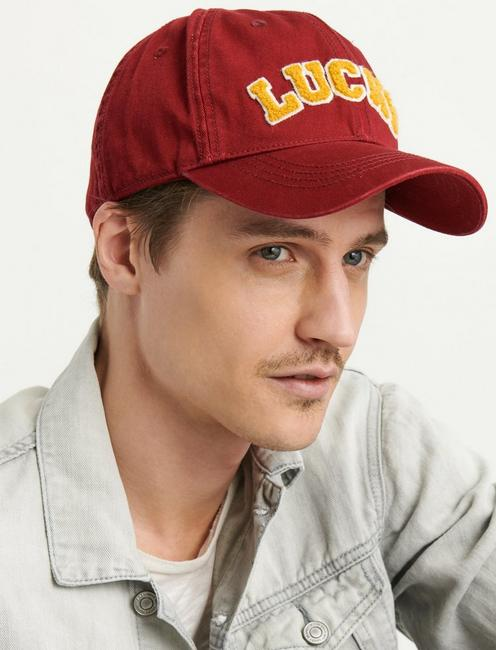 LUCKY COLLEGIATE HAT, RED