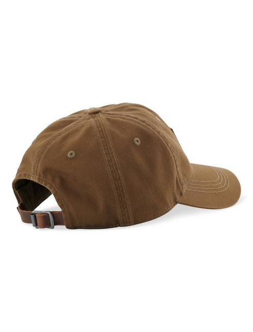 LEATHER TAG BASEBALL HAT, OLIVE