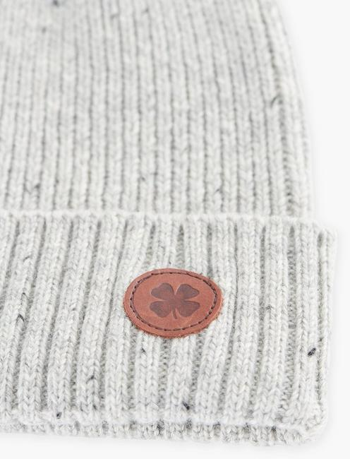LEATHER PATCH NEP BEANIE,