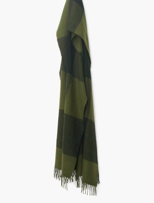 BUFFALO CHECK SCARF, OLIVE PLAID