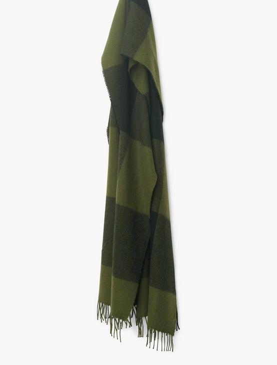 BUFFALO CHECK SCARF, OLIVE PLAID, productTileDesktop