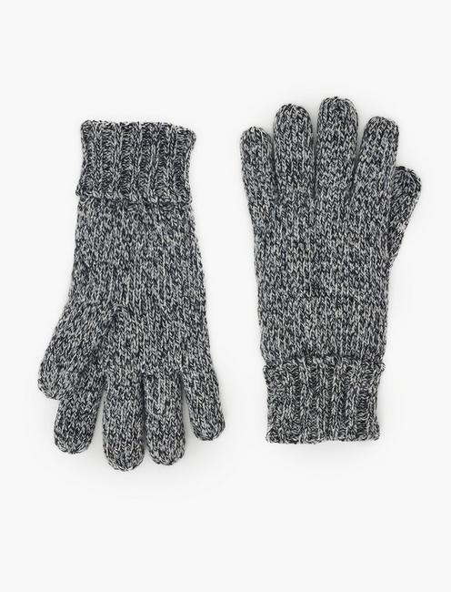 MELANGE KNIT TECH GLOVES, GREY MELANGE