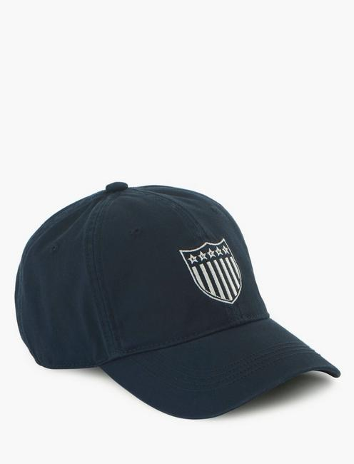 LUCKY SHIELD BASEBALL HAT, NAVY