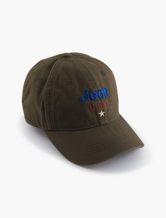 JEEP USA LOGO HAT, OLIVE, productTileDesktop