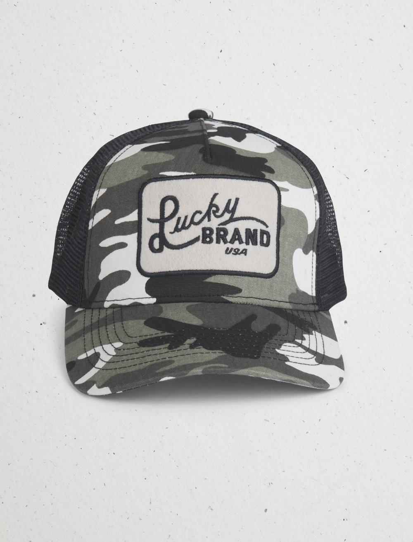 CAMO TRUCKER PATCH HAT, image 1