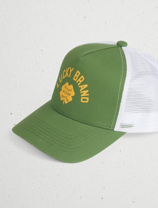 VINTAGE LUCKY TRUCKER HAT, DARK GREEN, productTileDesktop