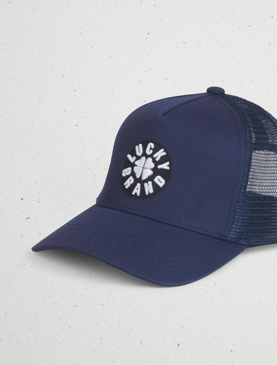 LUCKY PATCH TRUCKER HAT, RINSE, productTileDesktop