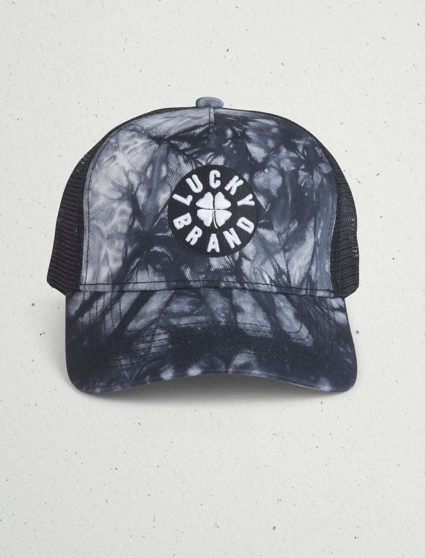 LUCKY TIE DYE TRUCKER HAT, image 1