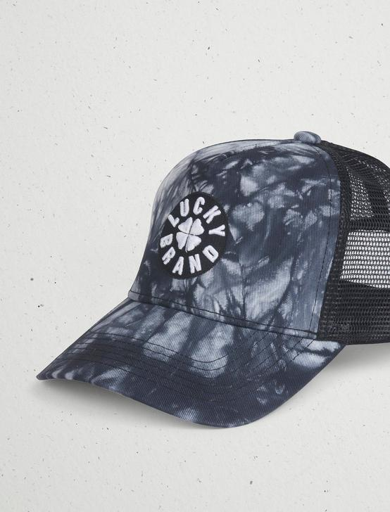 LUCKY TIE DYE TRUCKER HAT, MULTI, productTileDesktop