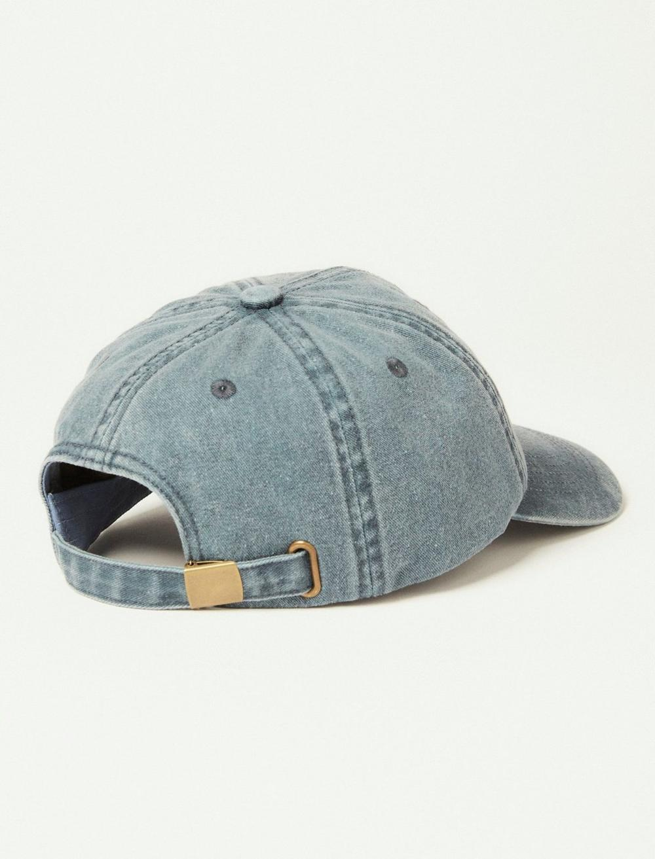 POT LEAF DENIM BASEBALL HAT, image 2