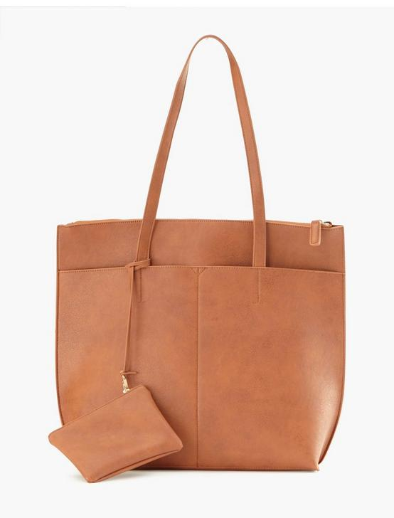 MULTI POCKET TOTE, COGNAC, productTileDesktop