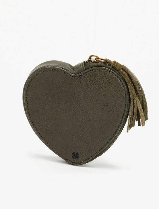 TROUBLE HEART POUCH, OLIVE, productTileDesktop