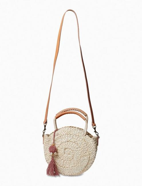 CIRCULAR STRAW CROSSBODY, NATURAL