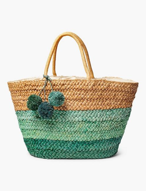 BASKET BEACH TOTE, NATURAL MULTI