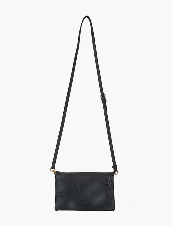 FOLDOVER CROSSBODY BAG, BLACK, productTileDesktop