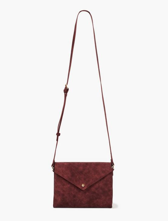 ENVELOPE CROSSBODY BAG, DARK RED, productTileDesktop