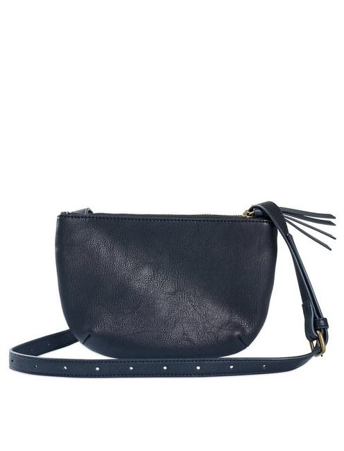 LEATHER DOUBLE POCKET CROSSBODY,