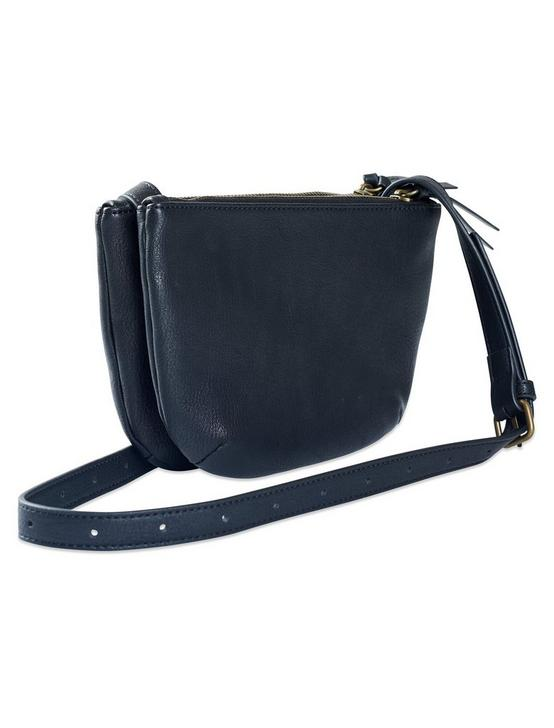 DOUBLE POCKET CROSSBODY, BLACK, productTileDesktop