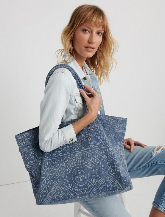 BATIK DENIM TOTE, DENIM, productTileDesktop