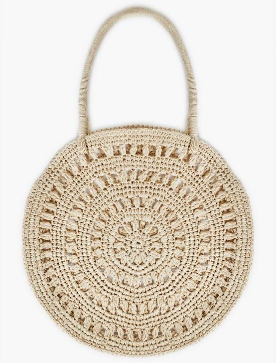 OPENWORK RAFFIA TOTE BAG, NATURAL, productTileDesktop