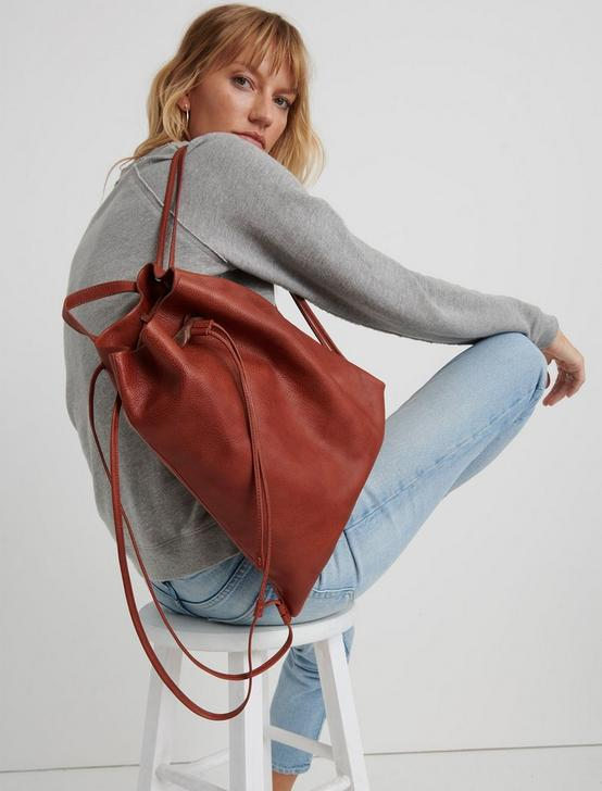 THE POINT LEATHER BACKPACK, TAN, productTileDesktop