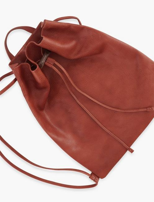 THE POINT LEATHER BACKPACK, TAN