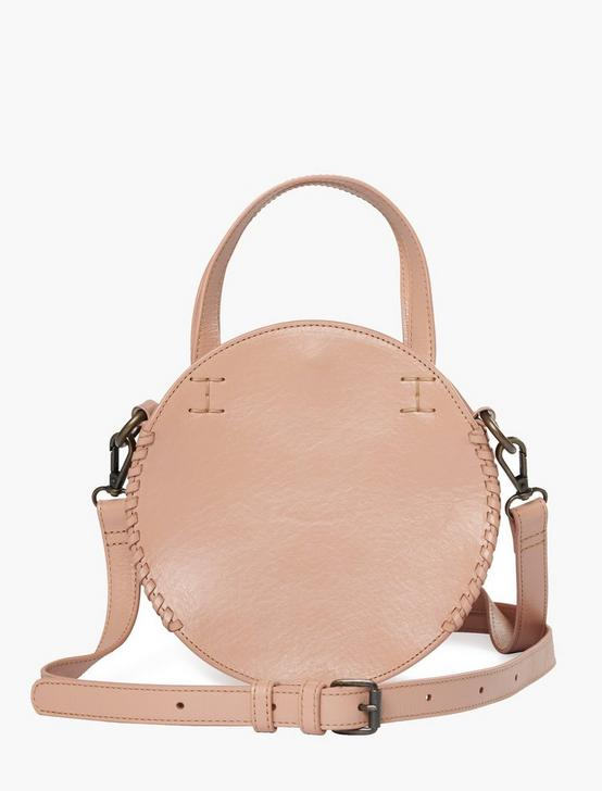 THE POINT LEATHER CIRCLE BAG, BLUSH, productTileDesktop