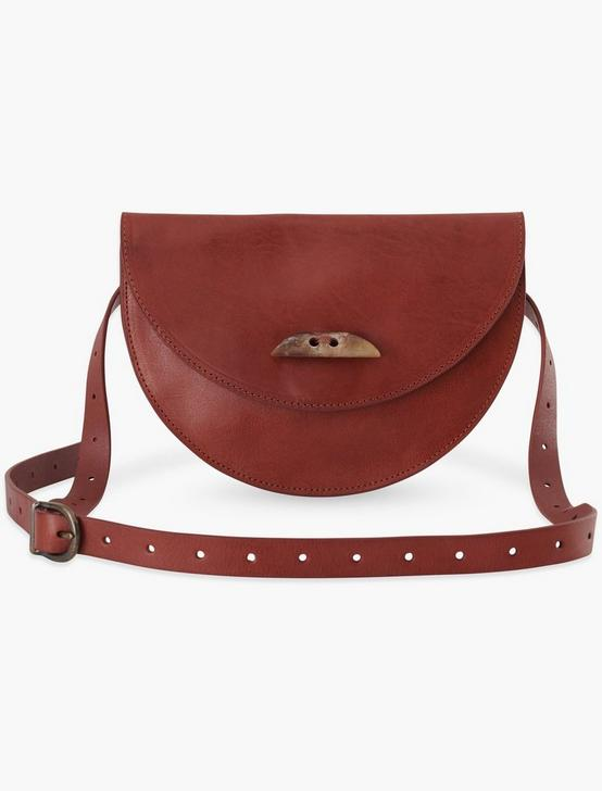 LEATHER FANNY PACK, COGNAC, productTileDesktop