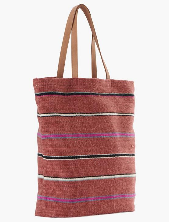 STRIPED FABRIC TOTE, MULTI, productTileDesktop