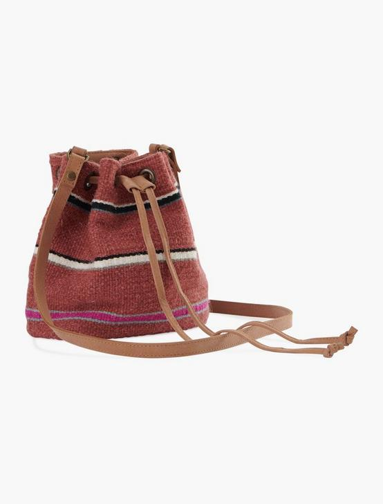 STRIPED FABRIC SHOULDER BAG, MULTI, productTileDesktop