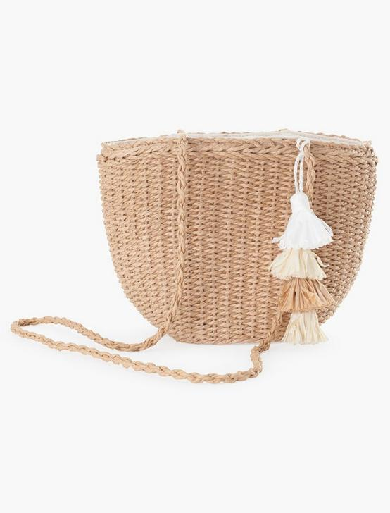 MULTI TASSEL CROSSBODY, NATURAL, productTileDesktop